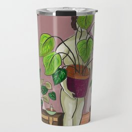 boys with love for plants illustration painting Travel Mug