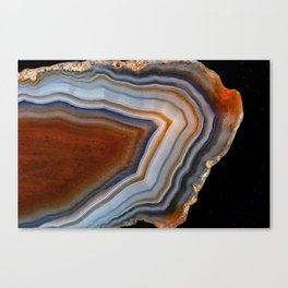 Layered agate geode 3163 Canvas Print