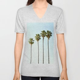 Four Palm Trees Unisex V-Neck