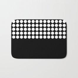 Black and white polka dot .2 Bath Mat