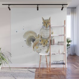 Two Squirrels Wall Mural