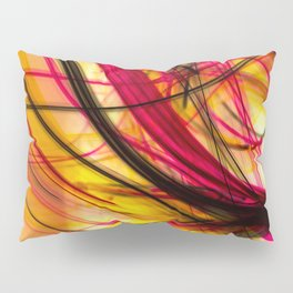 Heatwave Dynamic Abstract Painting Pillow Sham