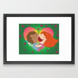 Rose Garden Love Framed Art Print
