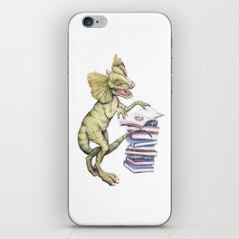 Dilophosaurus Loves Books iPhone Skin