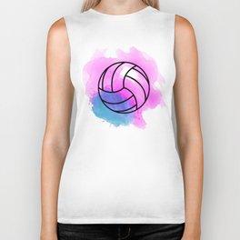 Volleyball Watercolor Biker Tank