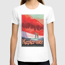 KEPLER-186f Where the Grass is Always Redder on the Other Side; JPL Visions of the Future Poster T-shirt