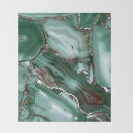 Luxury Malachite Marble Agate  Throw Blanket