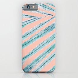 palm leaf coral iPhone Case