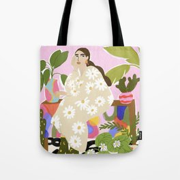 Hanging out with plants Tote Bag