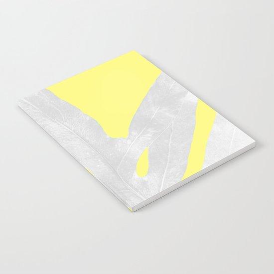 Green Fern on Lemon Yellow Inverted Notebook