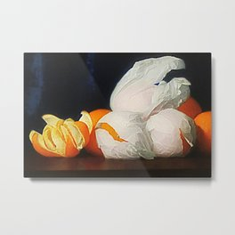 Harvest Oranges in Tissue Paper Still Life by William McCloskey Metal Print