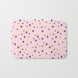 LadyBug in Pink Background Pattern Bath Mat