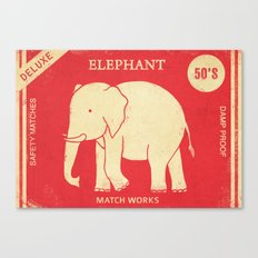 Elephant Safety Matches Canvas Print