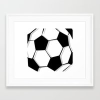 soccer Framed Art Prints featuring Soccer by An Luong
