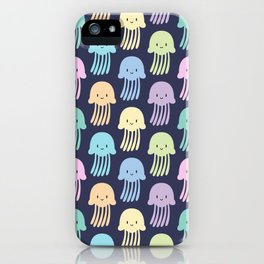 Cute colorful jellyfishes iPhone Case