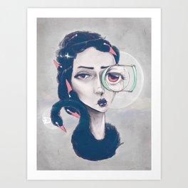 Rare Royal through the looking glass Art Print
