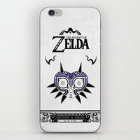 the legend of zelda iPhone & iPod Skins featuring Zelda legend - Majora's mask by Art & Be