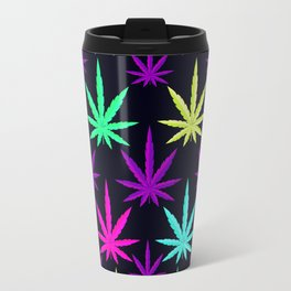 Colorful Marijuna Weed Travel Mug