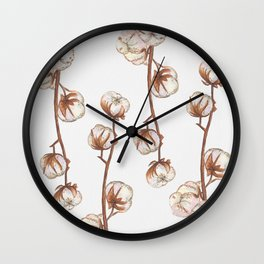 Cotton flower paper texture Wall Clock