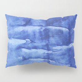 Corn flower blue abstract wash drawing painting Pillow Sham