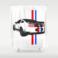 mustang Shower Curtains featuring 2013 Mustang by Amador