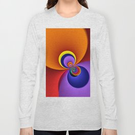 time for fractals -5- curtain Long Sleeve T-shirt