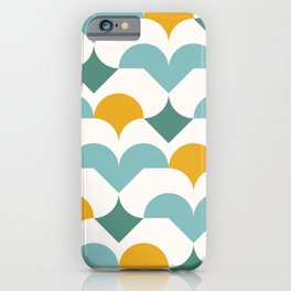 Geometric modern abstract pattern 03 iPhone Case
