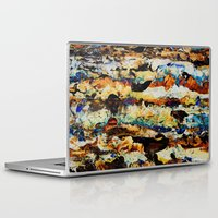 moon phase Laptop & iPad Skins featuring Phase Abstract by Stevyn Llewellyn