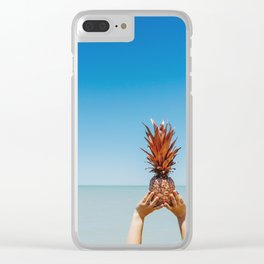 Pineapple summer loving Clear iPhone Case