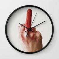 feminism Wall Clocks featuring Feminism! by Roser Arques