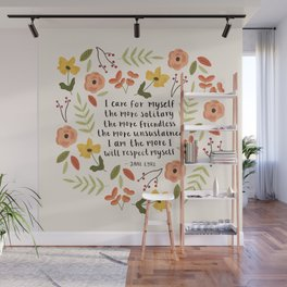 """Jane Eyre """"I Care For Myself"""" Quote Wall Mural"""