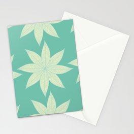 Skeleton Leaf Flower Pattern Stationery Cards
