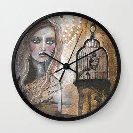Caged Bird Wall Clock