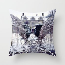 The Cotswolds In Winter Throw Pillow