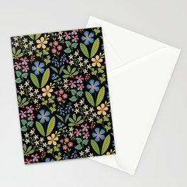 Purple Violets Stationery Cards