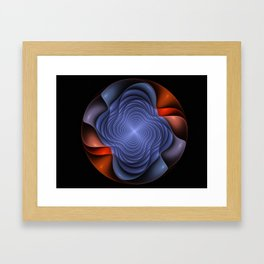 Colorful fractal flower. Framed Art Print