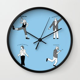 Chicken Dance The Night Alway  Wall Clock