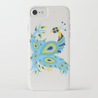 peacock iPhone & iPod Cases featuring Peacock by Cat Coquillette