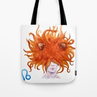 leo Tote Bags featuring Leo by Aloke Design