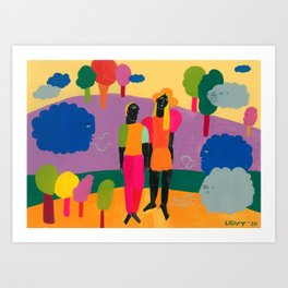 Playful Winds Art Print