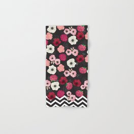 Chevron Flowers Hand & Bath Towel