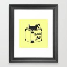 How To Kill a Mockingbird (Yellow) Framed Art Print