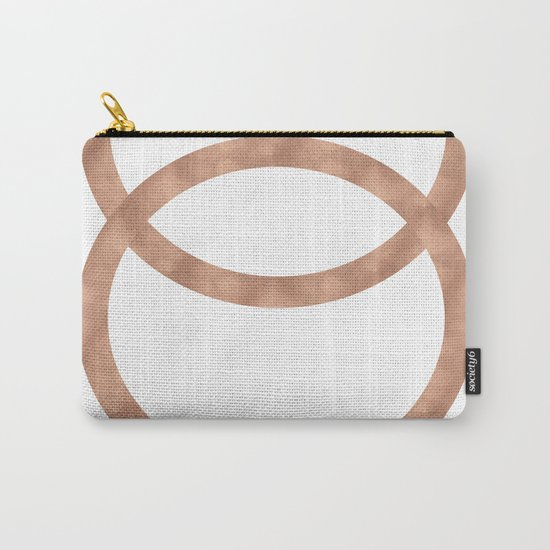 Rose gold circles of infinity Carry-All Pouch