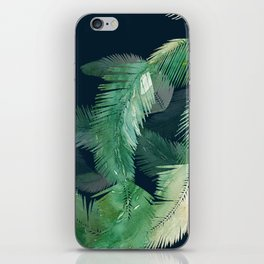 Tropical Leaves at Night iPhone Skin