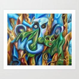 The Hunting Elephant  Art Print