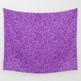 Purple Moondust Glitter Pattern Wall Tapestry