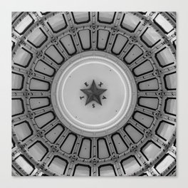 Dome of the Texas State Capitol - Austin - Black and White Canvas Print