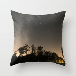 Milky high way Throw Pillow