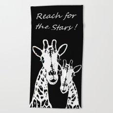 Giraffes Imprint Stamp Beach Towel