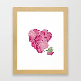 Heart of flowers Framed Art Print